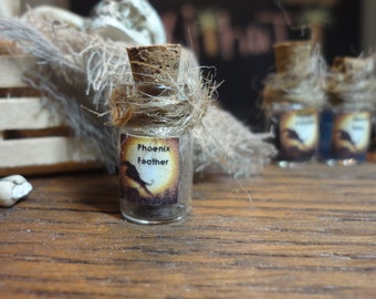 PHOENIX FEATHER Dollhouse Miniature Halloween Potion -