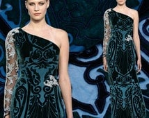 ON SALE, Silk velvet fabrics, DIY dress fabric, Fashion dress fabric - 1.14 m x 50 cm
