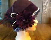 Womens Stylish Wool Fleece Cloche Hat
