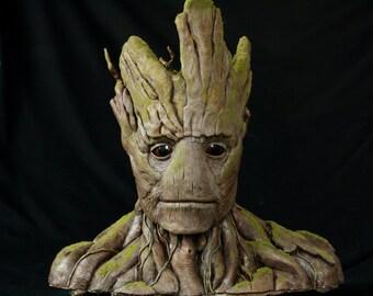 Groot Sculpture Bust Statue