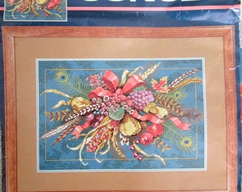 Dimensions Sunset Needlepoint HARVEST SPRAY by Judy Hand- Opened complete kit