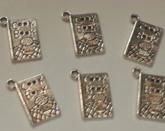 COOKBOOK CHARMS,Tibetan Silver Charms,Nickel Free,Lead Free,Jewelry Supply,Jewelry Making,Bracelet Necklace Charms,Bookmark Charms,CHEF