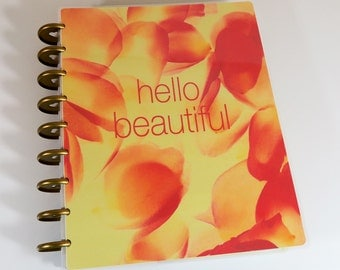 Happy Planner Orange and Yellow Cover