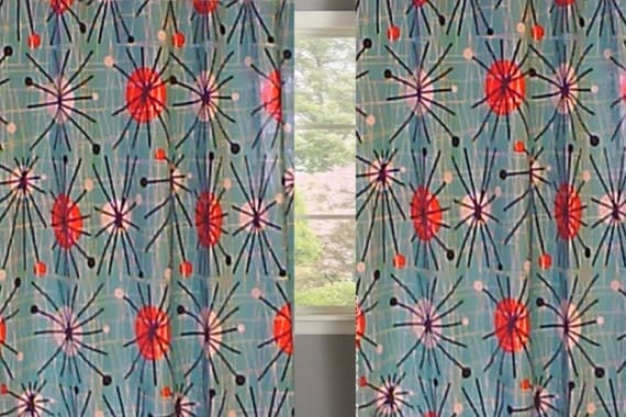 MICHAEL MILLER ATOMIC Curtains>>> Custom made Drapes from small window ...