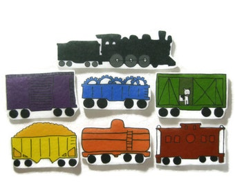 Felt board, Train, homeschool, felt board pieces, flannel board, felt board story, quiet book, busy book, felt story, felt train