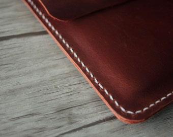 Saddle iPad Mini Case, Distressed Brown Leather iPad Mini Case - Hand Stitched Custom Kindle, Nexus, Samsung, Kobo Covers