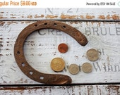 HOLIDAY SALE The Argentine pampas,Good Amulet wedding blessings, Rustic Home Decor, good luck horseshoe Vintage horseshoe, worn and rusty ho