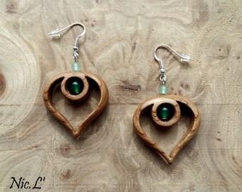 Earrings:.-