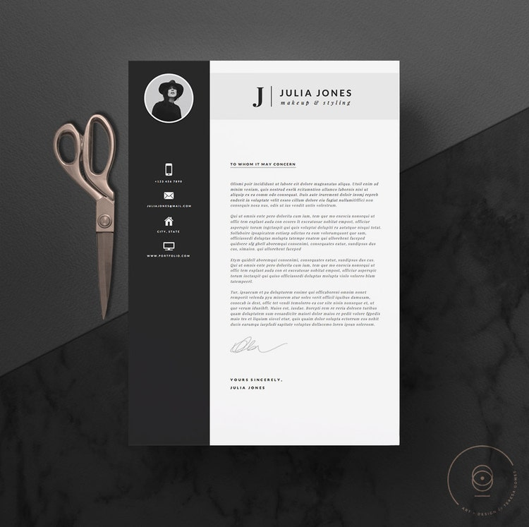 Professional Resume Template & Cover Letter Icon By