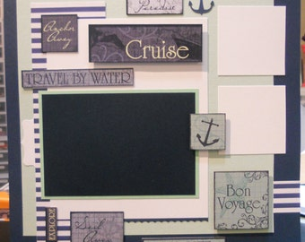 12x12 pre made Cruise scrapbook page