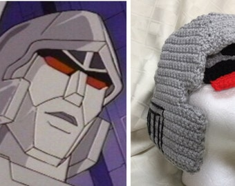 Crochet Pattern for Evil Robot Hat inspired by Transformers Megatron
