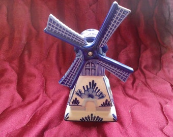 Vintage Handpainted Delft Windmill (1549)