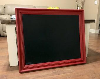 Large Chalkboard, red chalkboard, chalkboards, memo board, blackboard, Menu chalkboard, wedding chalkboard, photo prop, chalk board