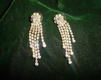 Glamorous Rhinestone Dangle Earrings