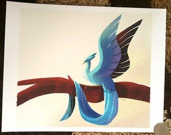 "8x10"" Pokemon go legendary bird Articuno fine art print"