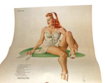 Fabulous June 1945 Esquire Magazine with Varga Girl Centerfold