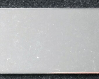 Nameplate Stainless Steel, 3/4 x 2-1/2, free engraving