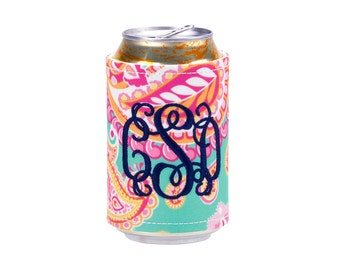 ON SALE Summer Paisley Coozie*Bridesmaid Gifts*Beach*Pool*Lake*Boating*Personalized*