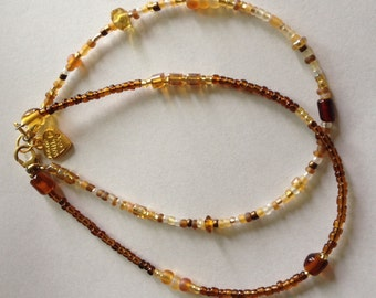 Golden Double Anklet, arm band, jewelry, body chain, waist beads, citrine waistbeads