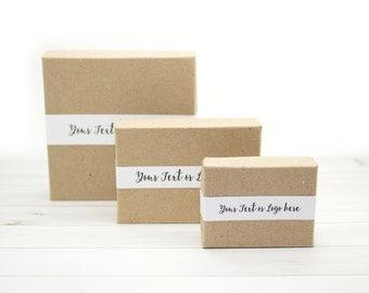 Gift Box Lid Labels | Jewelry Box Labels | Custom Labels | Lid Wrap | Custom Jewelry Gift Box | Simple Band | L01 08