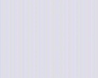 Lilac Mini Stripe Organic Fabric - By The Yard -  Girl / Fabric
