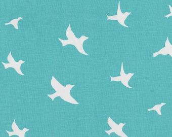 Coastal Blue Birds Fabric - By The Yard - Girl / Boy / Gender Neutral