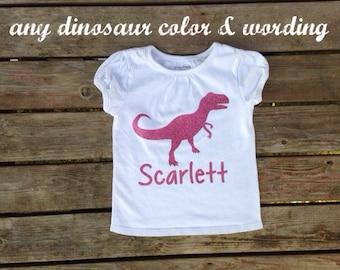 T-rex shirt, triceratops, T-rex girl shirt, girl dinosaur shirt, girl t rex shirt, T rex, Dinosaur clothes, girl dinosaur clothing, dinosaur