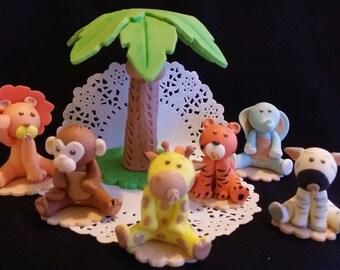 Jungle Safari Cake Topper, Safari Animals Cake Topper, Baby Animal Cake Topper, Jungle Animal Cake Topper, Cute Baby Animal, Safari Birthday