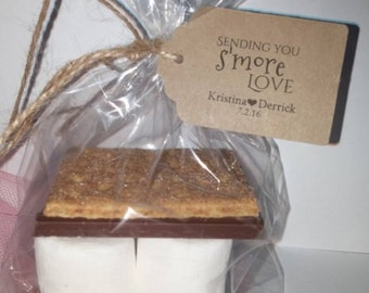 DIY Wedding Favor S'mores Kits for Weddings Parties Thank You Favors Tags Rectangular Hang Tag Personalized