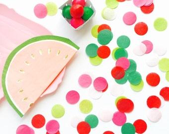 """Tissue Paper 1"""" Party Confetti - Watermelon"""