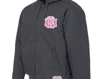 Monogrammed Dri Duck Cheyenne Hooded Jacket with Tricot Quilt Lining