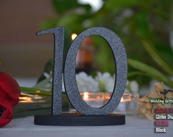 Table Numbers Wedding, Gold Table Number for Weddings,Table Number, 10 table numbers