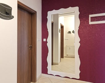 Shaped white mirror