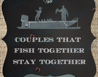 Personalized Couples that Hunt/Fish Wall Art (Digital File Only!)