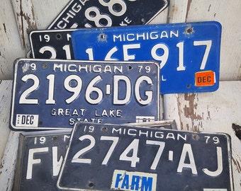 Vintage Michigan License Plates