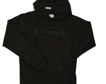 Black pullover hoodie Thick