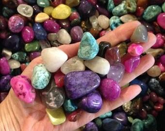 1/2 lb Large Tumbled Stones Assorted mix bag ,Reiki Stones,Medicine Bag ,Crystal Mineral Gemstones ,Polished Stones, Chakra,40% off Retail
