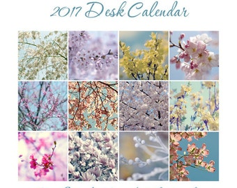 50% off: 2017 Desk Calendar, fine art nature photography calendar with easel, 4x6, 5x7 floral 2017 calendar with stand, 4x4, 5x5 prints