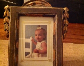 Vintage Gold Gilted Picture Frame, Unique, Wood