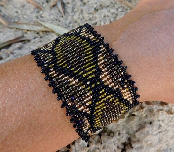 Snake Skin Bead Bracelet Original Fashion Design Extravaganza Gift Designer Cuff Wide Men Women