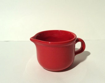 Vintage 1980s Waechtersbach West Germany Red Creamer Pitcher