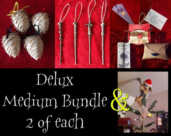 Medium Harry Potter Inspired Christmas Tree Ornament Bundle