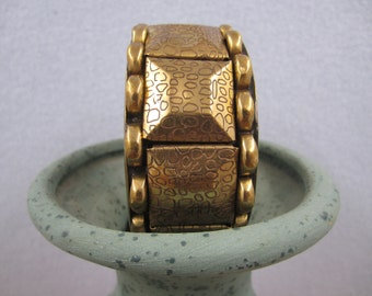 Gorgeous Wide Brass Bangle