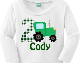 Tractor Birthday, John Deere Birthday Shirt / Onesie / Bib / Digital PDF
