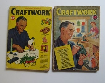 1950s Craftwork Magazine. 2 Fabulous issues (1950 vol. 2, 1953 vol. 3). A Science and Mechanics Publication. Learn to do just about anything
