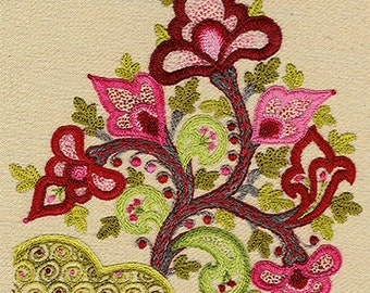 "Talliaferro's ""Kashan"" crewel embroidery pattern"