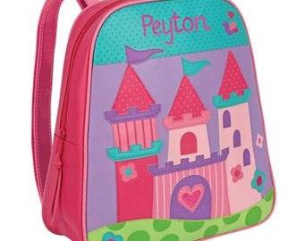 Personalized Girls Princess Castle Backpack Girls Princess Castle Back Pack, Castle Back pack, preschool Kindergarte backpack