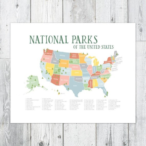 Critical image for printable list of national parks by state