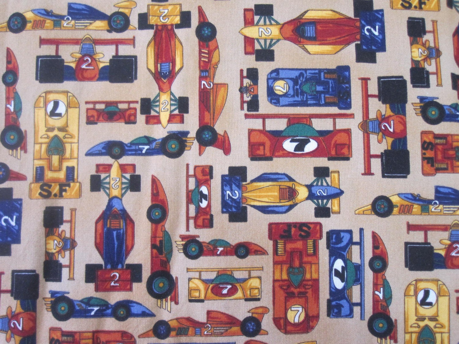 Indy car quilt fabric racing cars boys cotton the right for Quilt material for boys