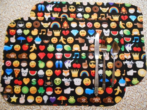 Emoji Faces Placemat set of 2